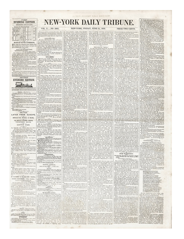Tane - NY Daily Tribune June 21, 1850 front cover _B3V0476.jpeg